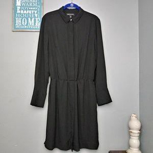 Banana Republic Black Long Sleeve Dress
